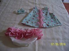 Baby Girl Dress  cute  CupcakesPolka Dots by sewingmissdaisy