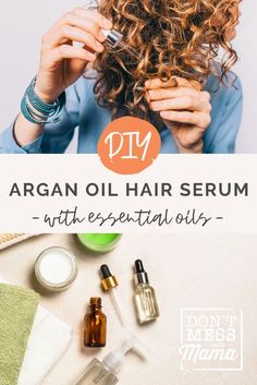 There are so many argan oil benefits for hair, but hair serum from the salon can be expensive (and full of toxins!) Instead, save money & time with this DIY Argan Oil Hair Serum Treatment. It is the perfect hair serum for frizzy hair to help nourish and smooth. This DIY hair serum with essential oils also makes the perfect DIY gift! #hairserumDIY #arganoilbenefits #hairserumforfrizzyhair Argan Oil Hair Serum, Diy Hair Serum, Best Essential Oil Diffuser, Essential Oils For Hair, Natural Beauty Tips, Natural Skin Care, Argan Oil Benefits, Natural Haircare, Frizzy Hair