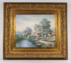 Modern Landscape Impressionist Oil Painting Canvas Signed Rik Boren