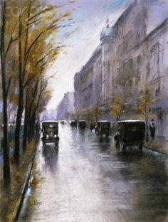 The Tiergartenstrasse, Berlin - Lesser Ury (1861-1931)