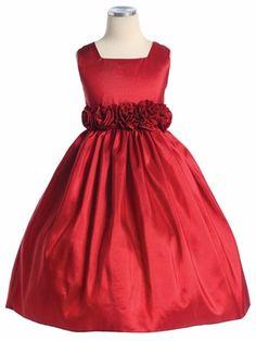 e828aaa80 Red Flower Girl Dress