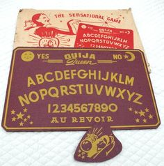 Vintage 1940's Ouija Queen Board Game with Planchette and Box