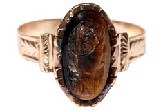 Victorian Tiger's Eye Cameo Ring from Little Treasures available on One Kings Lane