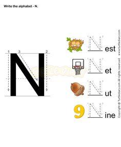 Letter Writing N - esl-efl Worksheets - preschool Worksheets