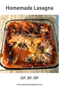 Learn how to make homemade lasagna that's gluten-free, dairy-free, & soy-free. Fodmap Recipes, Dairy Free Recipes, Quick Recipes, Healthy Recipes, Homemade Lasagna, How To Make Homemade, Low Fodmap, Glutenfree, Free Food
