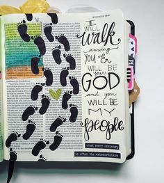 """""""I will walk among you."""" I love to travel and explore places I've never been but it is always more fun with a friend. God chooses to be our friend through life--His loved ones. Life with Him is a memorable journey.  #biblejournaling #illustratedfaith by jillywills"""