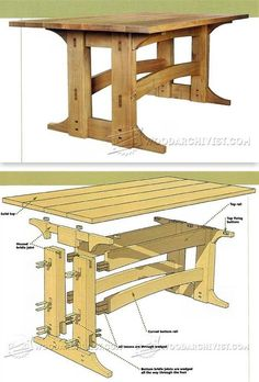 Refectory Table Plans - Furniture Plans and Projects   WoodArchivist.com
