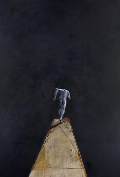 Vladimir velickovic ( né en 1935) descente - fig iv, 1988 huile sur toile signée, datée et titrée au dos 285 x 195 cm provenance : galerie kara, genève, suisse collection particulière, suisse note : importation temporaire