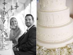 monogram buttercream wedding cake