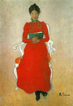 Carl Larsson 'portratt av dora lamm f. upmark'  ['Portrait of Dora Lamm from Uppmark' by Carl Larsson - image courtesy of SteveArtGallery.se]