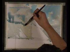 Regatta in Watercolor by Sterkhov  46 seconds of magic.
