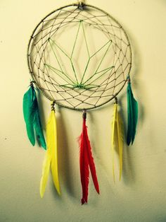 Rasta Dream Catcher for the Hippie Soul Natural by MerakiEffect
