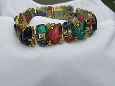 Trifari tutti frutti bracelet. c. 1930s.