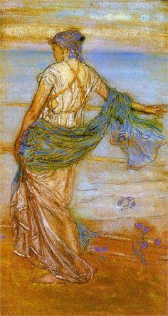 Gold and Grey: the Sunny Shower - Dordrecht - James McNeill Whistler - beautiful colour