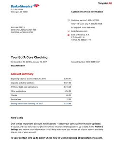 Bill Template, Id Card Template, Psd Templates, Willian Smith, Payroll Template, Real Id, Statement Template, Bank Statement, Business Checks