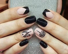 Incredible Combo French Tip Nails And Mandala Art ❤️Mandala nail art is intricate, popular and Bohemian that is why we invite you to have a closer look at our mandala nails designs collection!❤️ See more: naildesignsjourna. Hot Nails, Swag Nails, Pink Nails, Hair And Nails, Cute Gel Nails, Lace Nails, Cute Nail Art, Mandala Nails, French Tip Nails