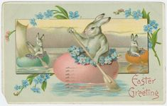 24 adorable vintage Easter cards from the first decades of the - Click Americana Easter Art, Easter Bunny, Happy Easter, Easter Decor, Easter Eggs, Vintage Cards, Vintage Postcards, Vintage Images, Easter Greeting Cards