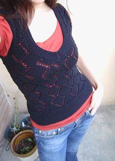 openwork diamond vest