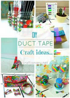 DIY Organization Ideas For Crafts | DIY Duct tape ideas (Make simple crafts) - Craftionary
