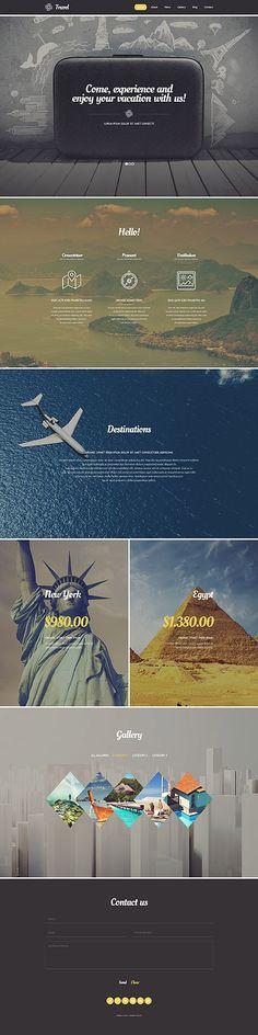 Template 54580 - Travel Agency  Responsive WordPress  Theme
