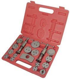 Brake Caliper Wind Back Tool Set - 18 Piece Gauge Set Stainless Shank Hex Bits