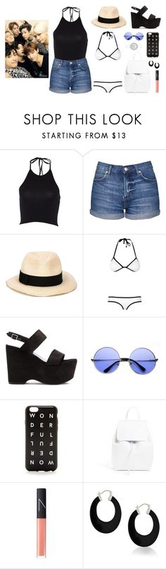 """Swimming with Got7"" by got7outfits ❤ liked on Polyvore featuring Topshop, Eugenia Kim, Yves Saint Laurent, J.Crew, Mansur Gavriel, NARS Cosmetics, Bling Jewelry and Skagen"