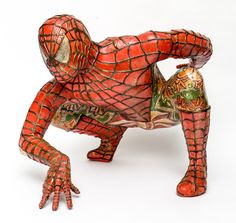 Domenico Pellegrino Spiderman Sculpture | From a unique collection of antique and modern statues at http://www.1stdibs.com/furniture/building-garden/statues/