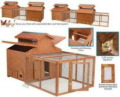 The ultimate designer Chicken Barn chicken house Item No. for your pampered poultry, this stylish designer Chicken Barn is perfect for your urban flock (the Barn is rated for average size hens).