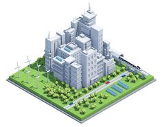 low poly city - Google Search