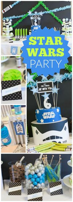 Such an awesome Star Wars birthday party! See more party ideas at CatchMyParty.com!