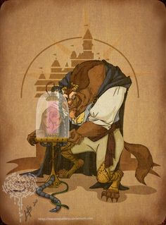 Steampunk Beauty and the Beast? Oh, Internet. You have waaay too much time on your hands.