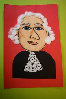 Pink and Green Mama: * Kid's Art Project: George Washington Mixed Media Portraits