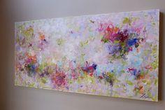 Light Violetpurple abstract paintingacrylic