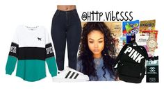 """""""Untitled #700"""" by jazaiah7 ❤ liked on Polyvore featuring adidas Originals and Victoria's Secret"""
