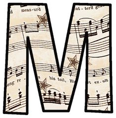 Love these!     Vintage Sheet Music: ---ALPHABET SETS!