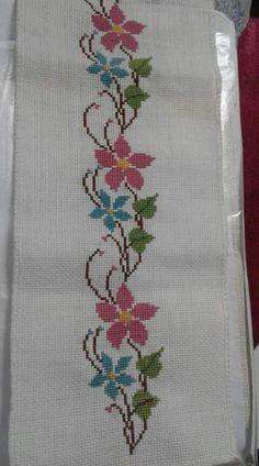 The most beautiful cross-stitch pattern - Knitting, Crochet Love Cross Stitch Letters, Cross Stitch Borders, Modern Cross Stitch, Cross Stitch Flowers, Cross Stitch Charts, Cross Stitch Designs, Cross Stitching, Cross Stitch Embroidery, Embroidery Patterns