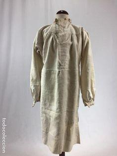 Antigüedades: Antigua camisa de lino - Foto 7 - 100025519