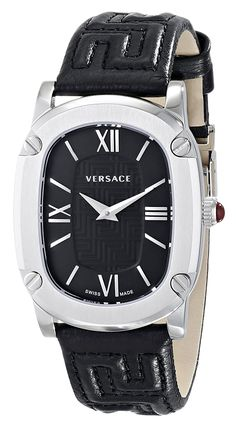 Versace Women's VNB010014 COUTURE Analog Display Swiss Quartz Black Watch -- Check out this great image