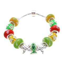 "Tropical Sea Life Murano Style Glass Beads and Charms Bracelet, 7.5"" SWEETIE 8. $14.97. Beads and Charms are not removable. Cannot add additional beads. Comes with Gift Box and Polishing Cloth. Trendy bracelets great for gifts. Save 63%!"