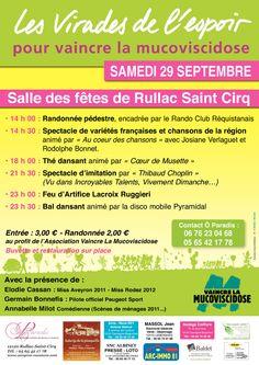 RULLAC SAINT CIRQ : vaincre la Mucoviscidose http://www.allons-a-la-campagne.com/index.php/503-rullac_saint_cirq-vaincre_la_mucoviscidose-fete-29-09-2012