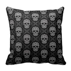 Grey and Black Sugar Skull Pattern Throw Pillows you will get best price offer lowest prices or diccount couponeReview          	Grey and Black Sugar Skull Pattern Throw Pillows Review from Associated Store with this Deal...