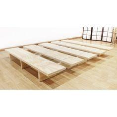 Diy Platform Bed Frame, Platform Bed Designs, Diy Bed Frame, Bed Frame Design, Bedroom Bed Design, Bedroom Decor, Cama Tatami, Minimal Bed Frame, Pallet Furniture