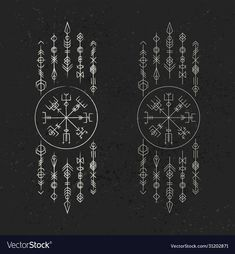 Viking Tattoo Symbol, Norse Tattoo, Viking Tattoos, Viking Tattoo Sleeve, Girl Back Tattoos, Tattoos For Guys, Sketch Tattoo Design, Tattoo Designs, Rune Viking