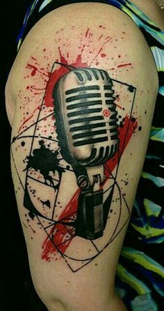 What does trash polka tattoo mean? We have trash polka tattoo ideas, designs, symbolism and we explain the meaning behind the tattoo. Red Tattoos, Body Art Tattoos, Cool Tattoos, Music Tattoo Designs, Music Tattoos, Tatuagem Trash Polka, Tattoo Musica, Ink Link, Tattoo Trash