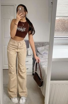 Adrette Outfits, Neue Outfits, Teen Fashion Outfits, Retro Outfits, Cute Casual Outfits, Look Fashion, Stylish Outfits, Vintage Outfits, Tomboy Fashion