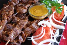 Cameroon Suya (Spicy Beef on a Stick)