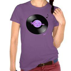 MoonDreams Music Record Purple Fine Jersey T-Shirt