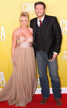 Although her flowing Maria Lucia Hohan gown was a clear winner, Miranda and husband Blake Shelton took home an even bigger wins from the 2012 CMA Awards (Miranda snagged female vocalist of the year and song of the year). Country Music Artists, Country Music Stars, Country Singers, Miranda Lambert Wedding, Blake Shelton Miranda Lambert, Carrie Underwood Mike Fisher, The Band Perry, Cma Awards, Party
