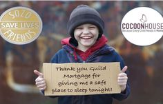 Guild Mortgage has teamed with Cocoon House in order to rid the streets of homeless kids! #guildmortgage #care #kids #charity #endhomelessness #sozofriends