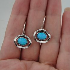 GREAT New Artisan Sterling Silver Opal Earrings  l by hadarjewelry, $47.00 -- AWESOME.  And these are even reasonably priced!
